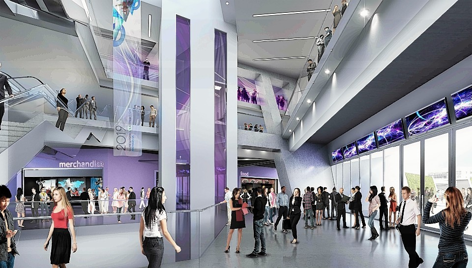 Artist impression of the planned new AECC