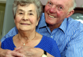 Albert and Alice Slessor who were celebrating their 65th wedding anniversary yesterday
