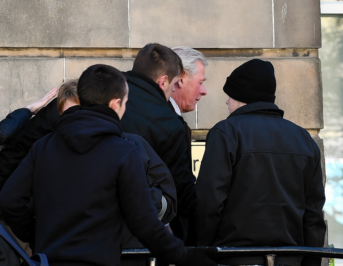 Philip Brown outside court
