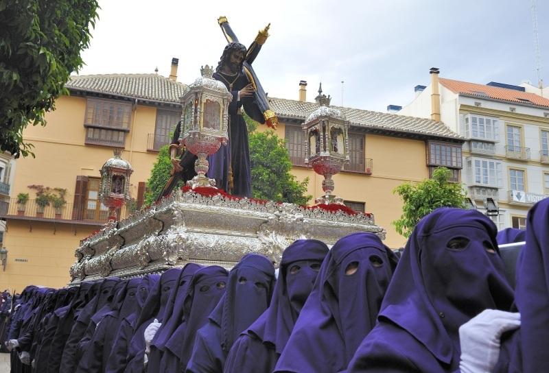 A procession held in Malaga to celebrate Semana Santa