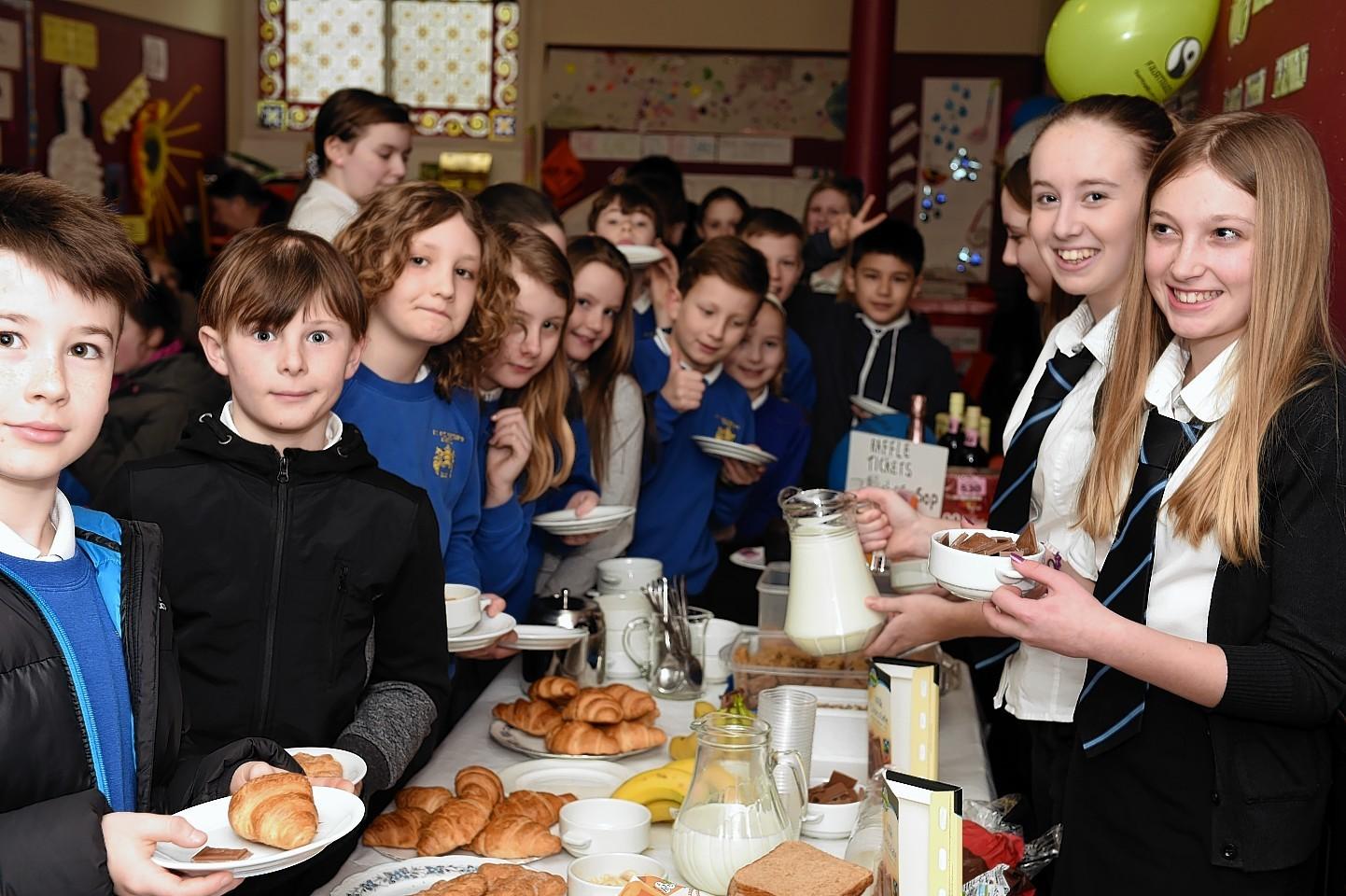 Fairtrade Big Breakfast at St Giles Church, High Street, Elgin. Picture by Gordon Lennox