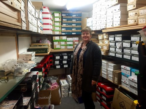Owner Ruth was delighted to have her stock room back to normal