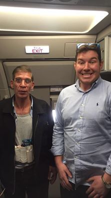 Ben (right) with the hijacker