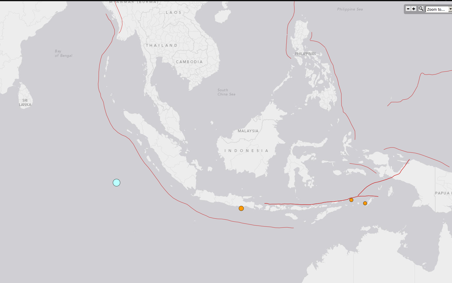 Map shows epicentre of earthquake and nearby tectonic plates