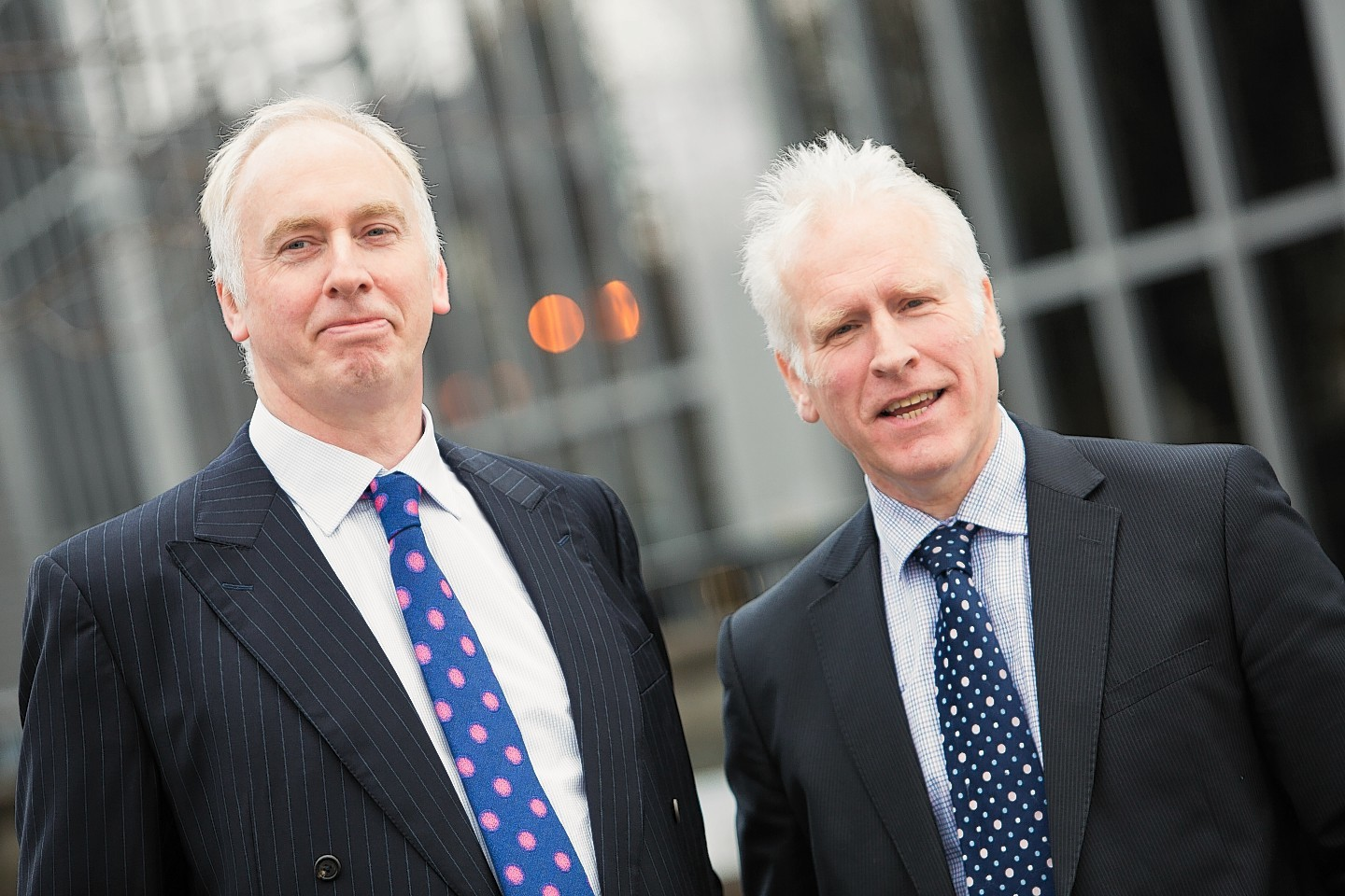 Magnus Nicolson (left) and Peter Cook