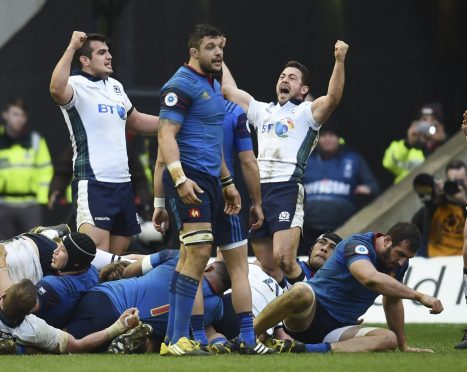 Scots captain Laidlaw celebrates