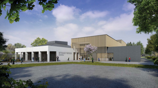 An artist's impression of the new Stoneywood School