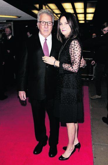 Dustin Hoffman and wife Lisa Hoffman