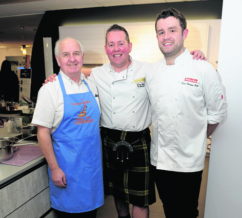 Great British Bake Off star Norman Calder, The Kilted Chef, Craig Wilson, and Masterchef: The Professionals finalist Sven-Hanson Britt