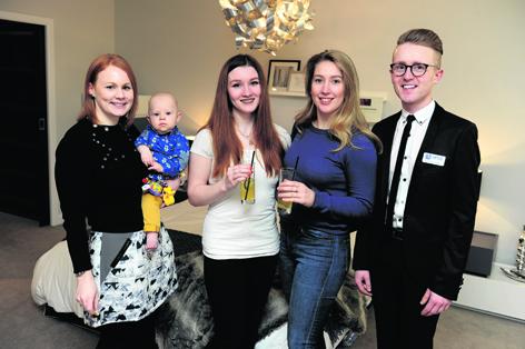 Suzanne McNeil with Karter, Neila Stephans, Kathrine Charleton and Mark Strachan