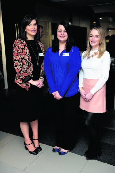 Katie Allan, Fiona Thompson and Zoe Bloice