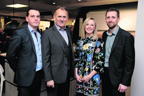 Tom Abel, Andy Walker, Claire Mckay and Darren Walker