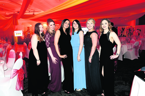Natalie Robb, Jillian Connolly, Adele Slater, Sarah McGirr, Laura Campbell and Aimee Reid