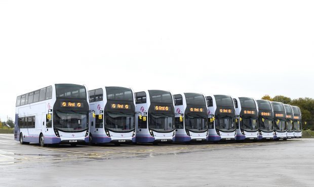 Double-deckers built by Falkirk firm ADL
