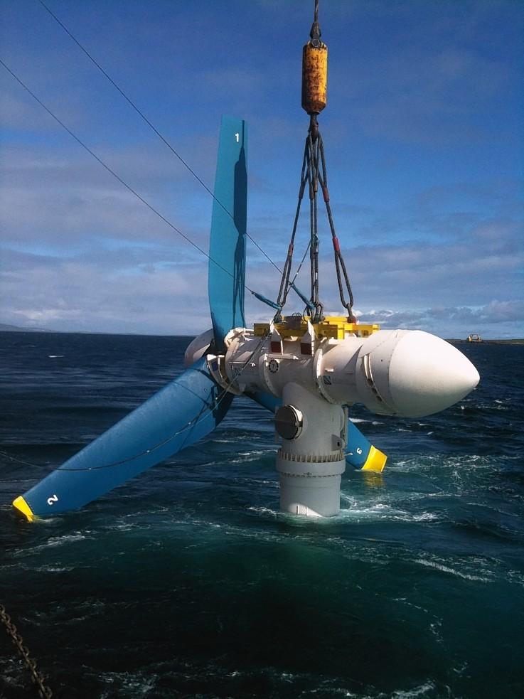Atlantis's AR1000 turbine being tested by EMEC on Orkney
