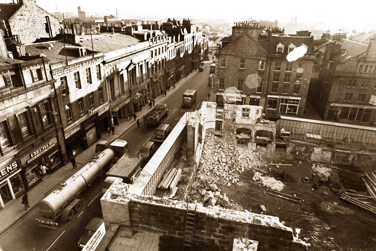 New market demolition in 1971