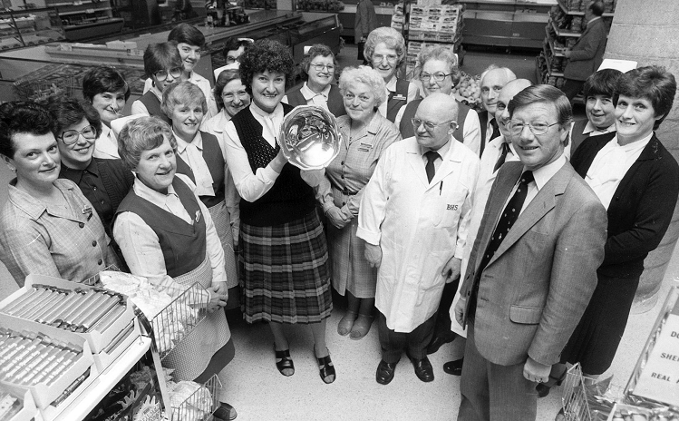 Food department staff of British Home Stores in Aberdeen won the company's top food store trophy in May 1983.