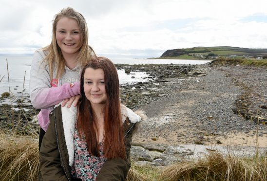 Victoria Liddell-Young and Zoe Taylor after their dramatic cliff rescue