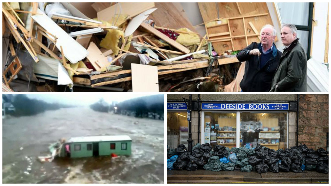Ballater is now starting to recover from the flood damage