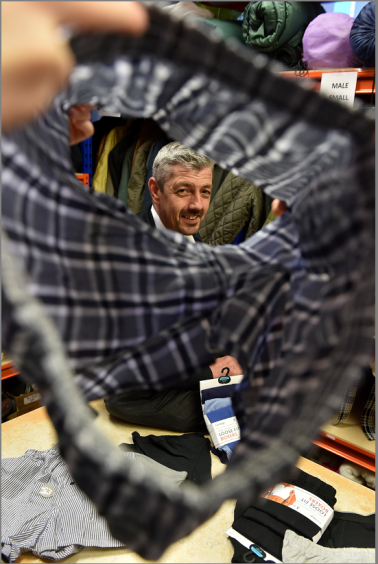 Aberdeen Cyrenians deputy chief executive Scott Baxter is looking for donations of mens briefs