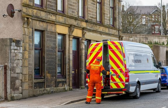 The fire took hold on the ground floor property on Low Street, Buckie