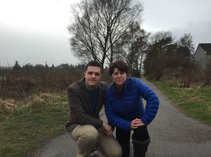 Ross Thomson and Marie Boulton on the Deeside Way.