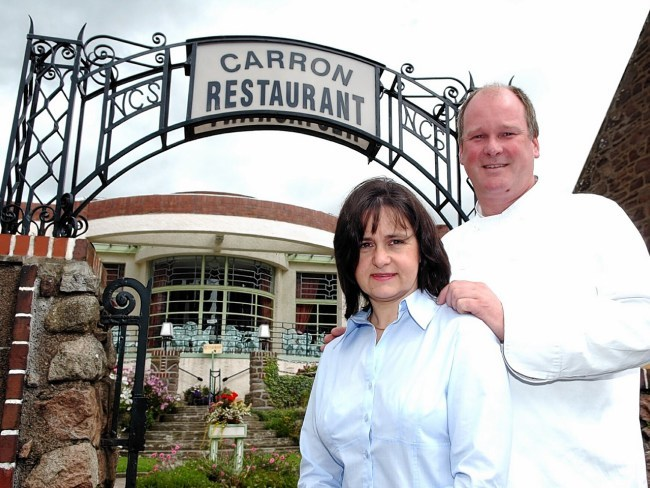 The Carron restaurant in Stonehaven, owners Robert and Jacki Cleaver