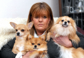 Crystal Penfold with her dogs, Tommy, Rubyroo and Buddy. Crystal recently found a cupcake filled with mushrooms in her back garden.