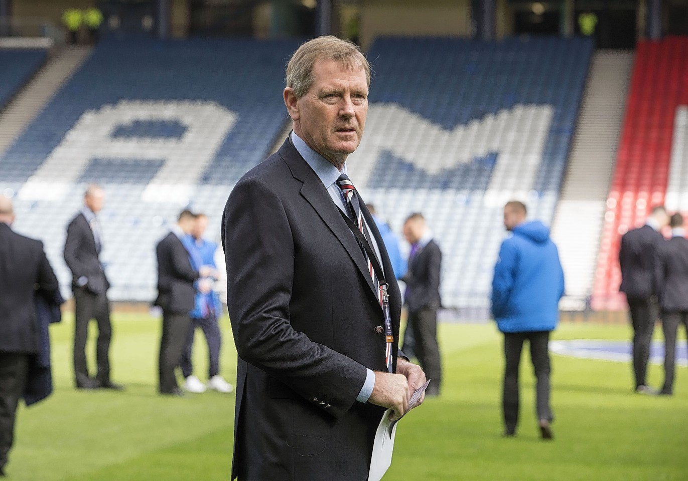 Dave King on the Hampden pitch before Sunday's semi-final against Celtic