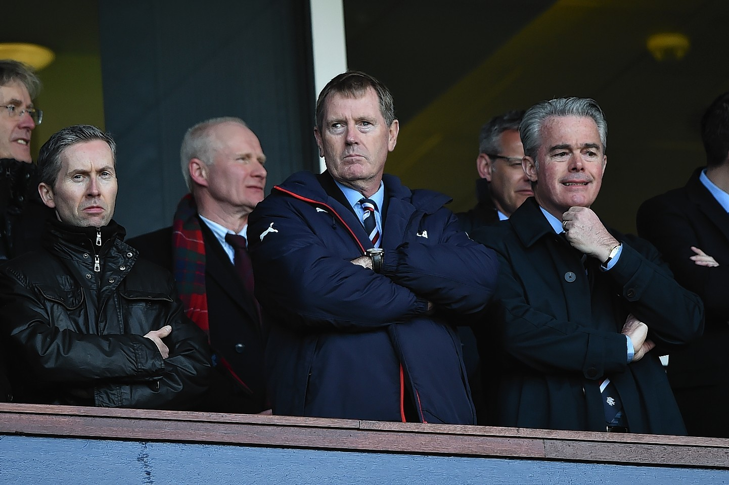 Dave King looks on during the Scottish Cup semi final between Rangers and Celtic at Hampden
