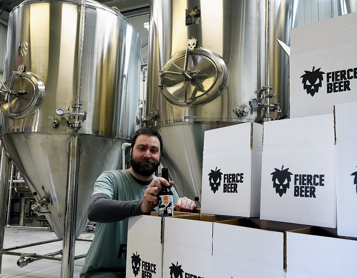 Dave McHardy who, along with Dave Grant, set up a new micro brewery in Aberdeen