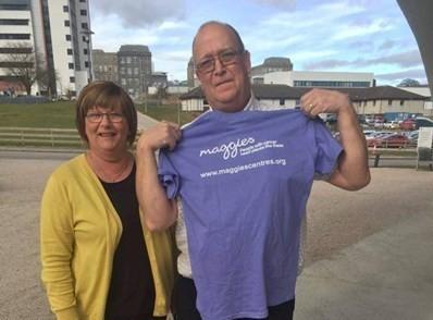 Davie Mathieson has smashed his £1,000 fundraising target