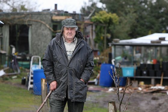 Donald Robertson on his croft in Milton of Culloden. Picture: Andrew Smith