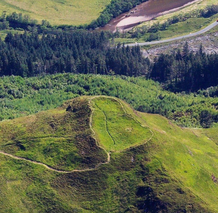 Dun Deardail hill fort in Glen Nevis.