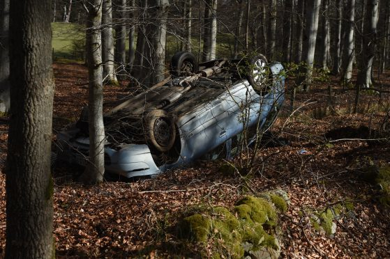 Three children were taken to hospital after the crash