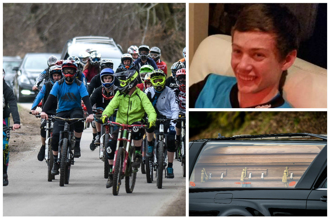Keiran McKandie's funeral was led by mountain biker friends