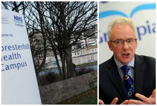 Aberdeen Royal Infirmary and chief executive Malcolm Wright