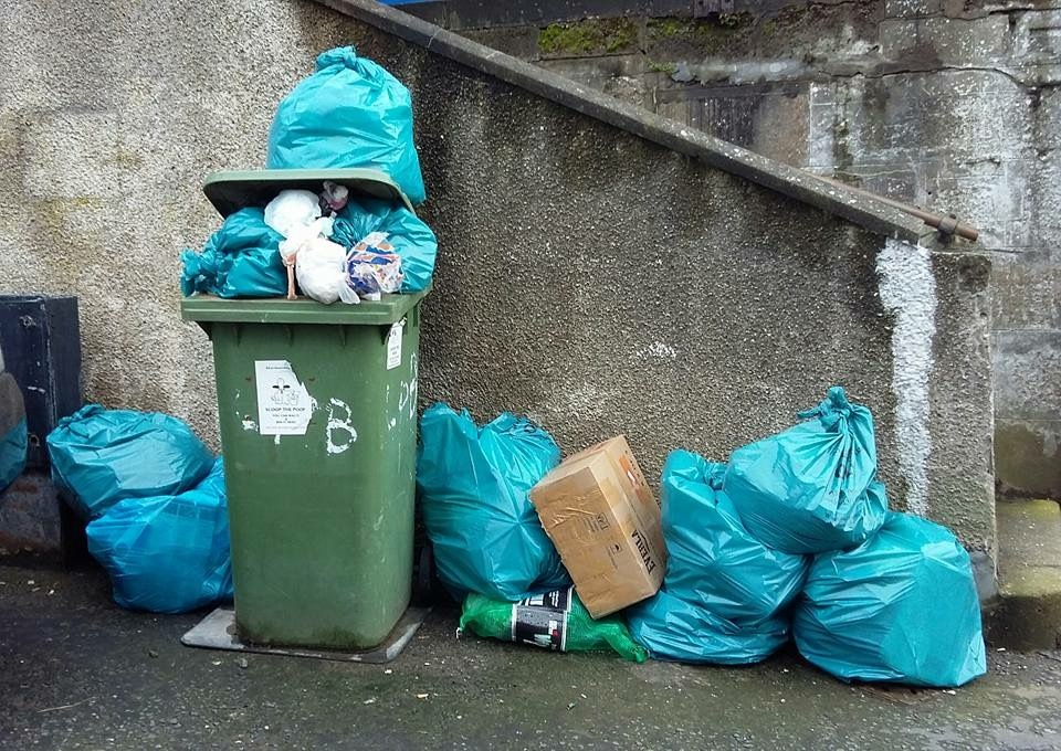 Waste is piling up in the picturesque village of Gardenstown.