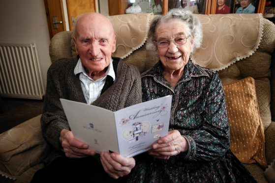 Joe and Helen Smith of Buckie celebrate their 73rd wedding anniversary.