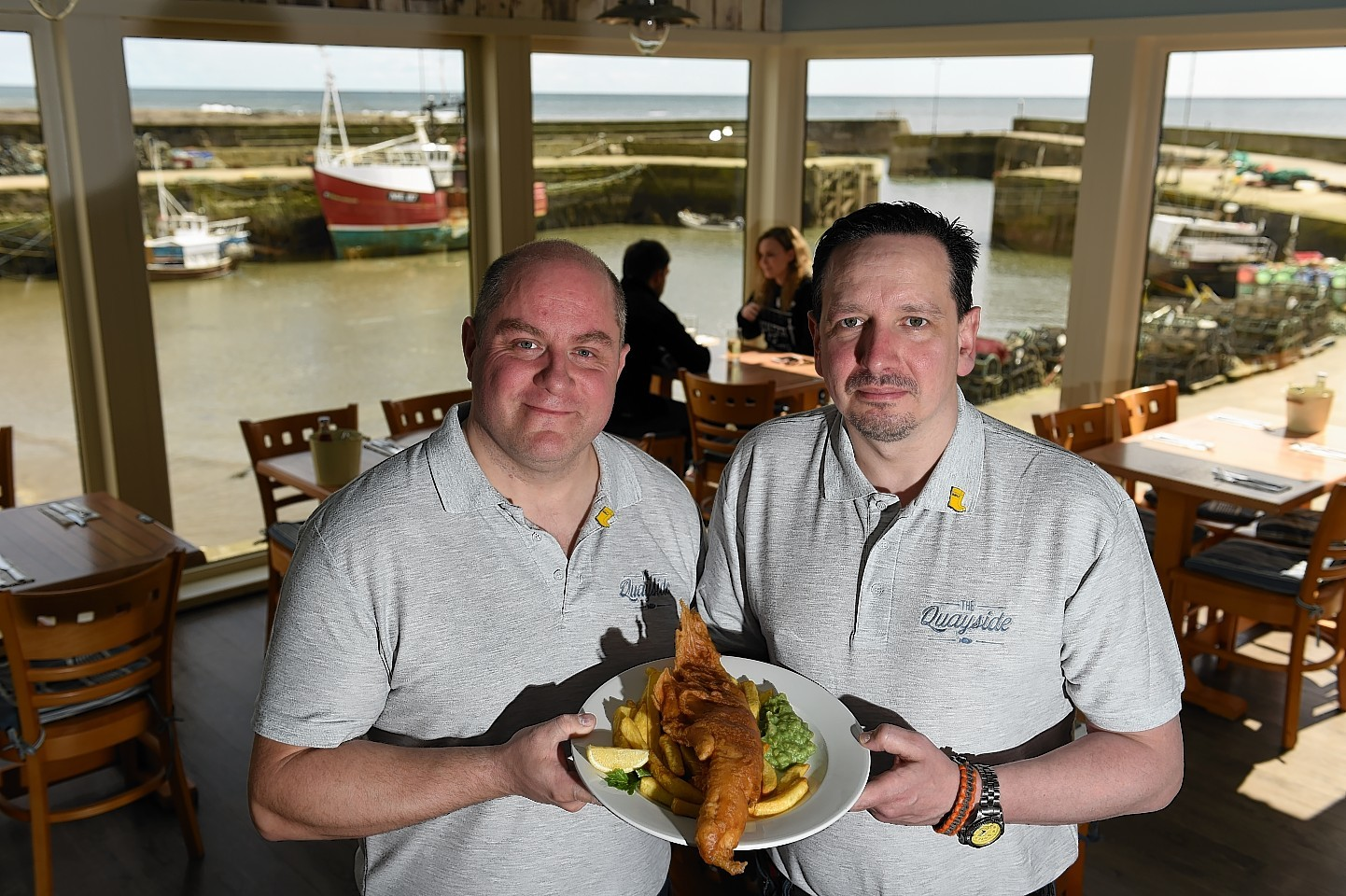 New restaurant owners Ewen Lovie and Noel Brown.