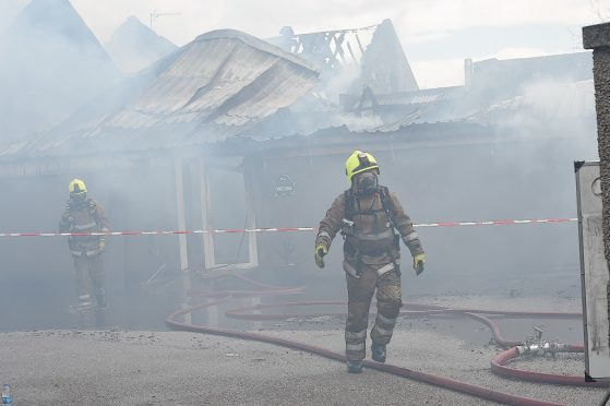 Fire crews remains on the scene
