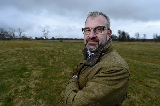 Steve Gordon of the protest group Highlands Against the Proposed Prison Location