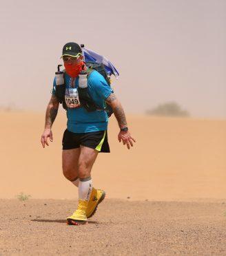 Chris Mackinnon completed the gruelling 156-mile Marathon des Sables