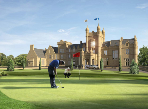 An artists impression of the golf course