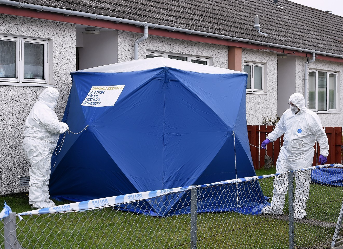 Forensic experts at Kintail Court in Inverness.