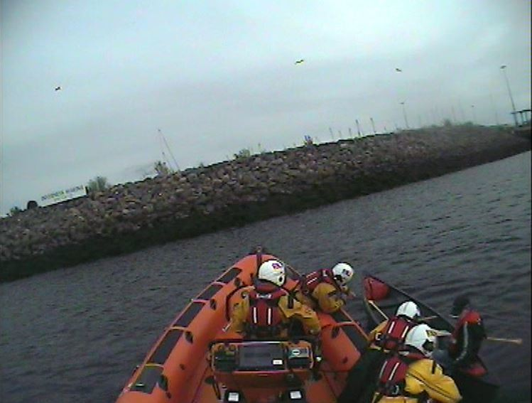 Kessock Lifeboat crew helped the lone paddler.