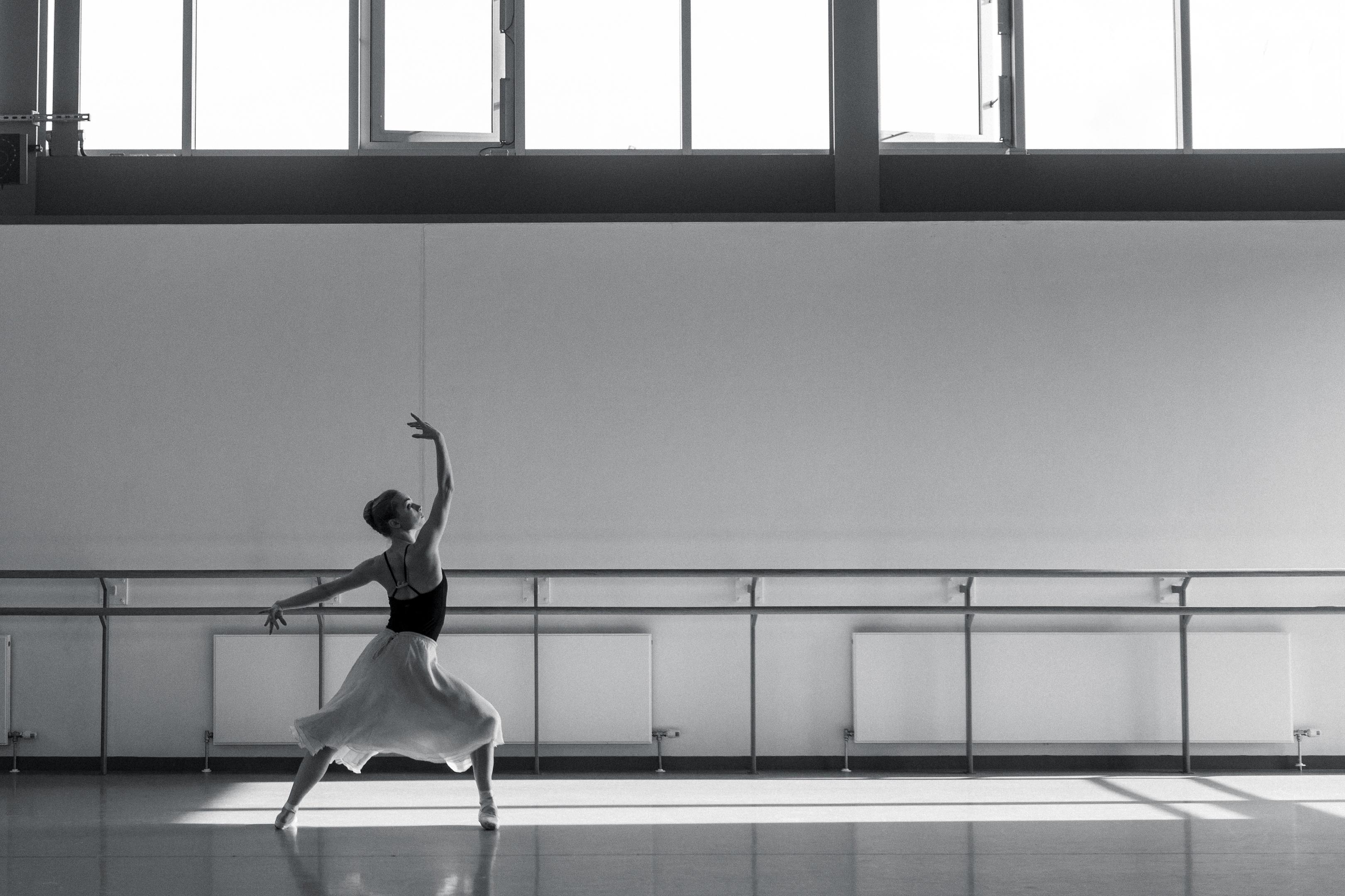 _MG_6823 – Bethany Kingsley-Garner in rehearsals for David Dawson's Swan Lake. Photo by Christina Riley.