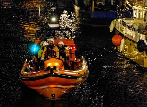 Macduff Lifeboat continued to search yesterday.