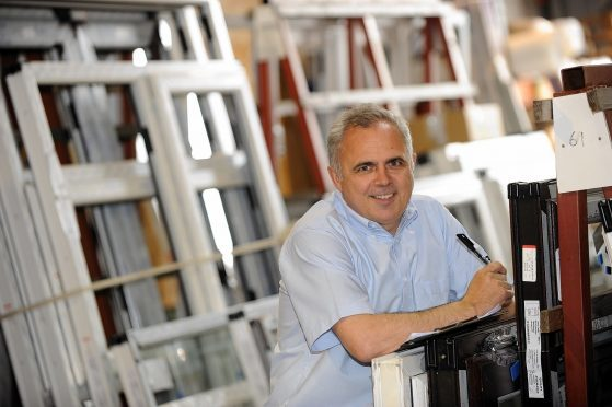 Bon Accord Glass co-owner Martin Allan at their premises on Riverside Drive.