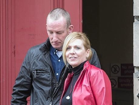 Mary Stevenson outside Elgin Sheriff Court